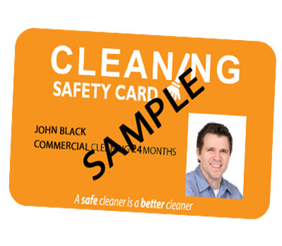 Commercial Cleaning Card valid for 24 months