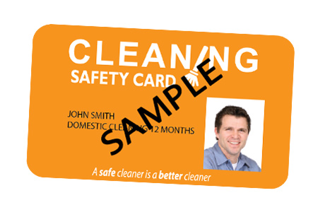 Domestic Cleaning Safety Card valid for 12 months