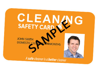 Domestic Cleaning Safety Card valid for 24 months
